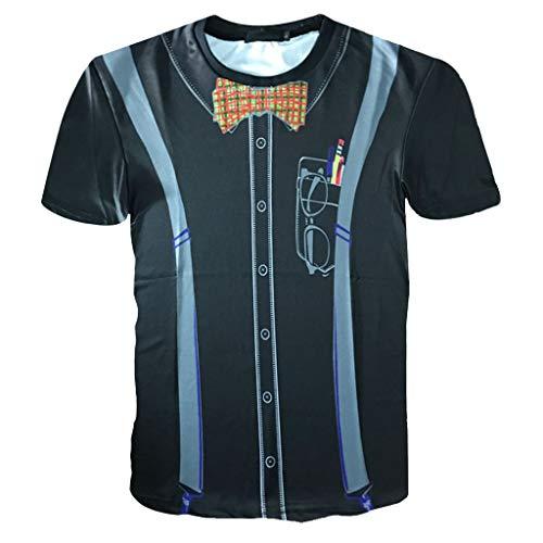 Zolimx Mode Herren Kurzarm 3D Gedruckt Tees Party Kostüm T-Shirt Bluse Tops