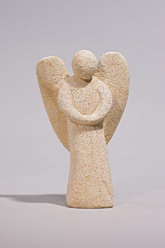 """Engel """"Gabriel"""" - Handarbeit in Sandsteinoptik - 14 x 9 x 26 cm"""