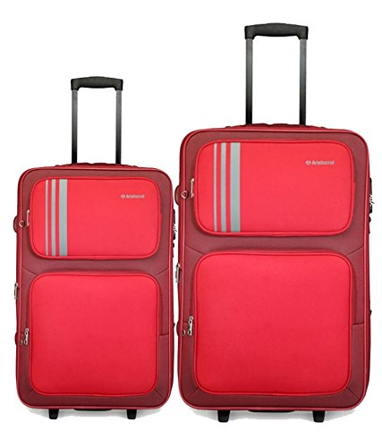 Aristocrat Uno Polyester 54.5 cms & 64.5 cms Red Luggage Set of 2 (STUNO2W55,65L)