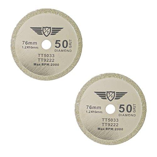 2 x TopsTools CS76D_2 76mm 10mm Bohrung Diamant Trinkgeld Sägeblätter für Worx WX424 WA5033 RW9228 310 HandyCut