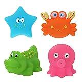 STOBOK 4 Stücke Baby Badespielzeug Bathtime Spaß Spielzeug Meerestiere Spielzeug für Kleinkinder Kinder Baby