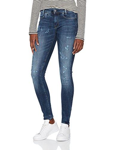 G-STAR RAW Damen Jeans D-Staq 5-Pkt Mid Skinny Wmn, Blau (Medium Aged Restored 177 8918), W27/L30 (Herstellergröße: 27/30)