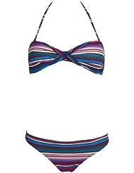 Chiemsee Damen Bandeau Bikini Badeanzug Tankini Ebony, 1060708
