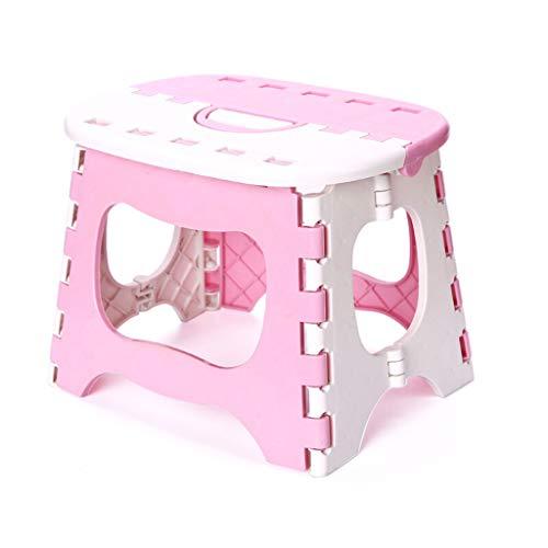 Haoli-chairs Vielseitiger, handlicher, Faltbarer, Faltbarer, robuster Trittleiter - Ideal für alle Häuser, Küche, Bad, Garagen, DIY und mehr (Farbe : Pink)