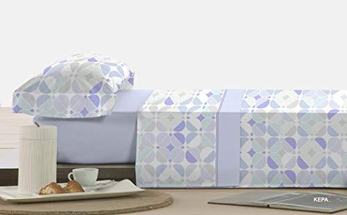 POLO-POLO Juego de sábanas de Invierno, TERMOLINA, 240Gr/m2. (Azul, 150)