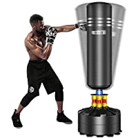 Dripex Adult Free Standing Boxing Punch Bag, Heavy Duty Punching Bag Stand with Suction Cup Base