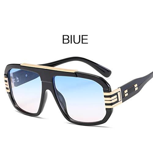 ZJWZ Trend Big Box Sonnenbrille UV-Schutz Unisex Personality Sonnenbrille,NO3