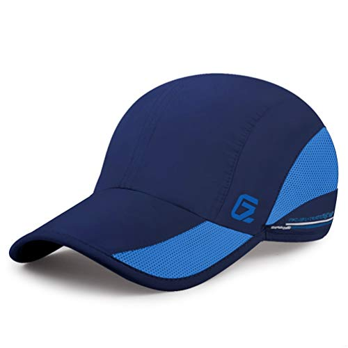 GADIEMENSS Quick Dry Sports Hat Lightweight Breathable Soft Outdoor Running Cap (Classic UP, Navy) -