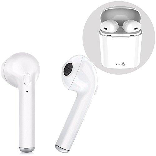Auriculares inalámbricos Bluetooth, audífonos estéreo auriculares deportivos y set de carga, teléfono manos libres Apple iPhone 8 8plus 7 7plus 6S Samsung Galaxy S7 S8 Smartphone Android IOS