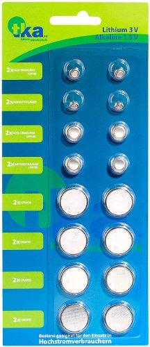 tka Köbele Akkutechnik Knopfbatterie: Knopfzellen-Paket, 8 x 2 Stück (Batterien Knopfzellen)