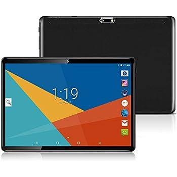 Tablet 10 Pulgadas Fire HD| 10.1Tablets PC(3G, WiFi, Octa Core, 4 GB de RAM, 64 GB de ROM, Android 7.0, GPS, Dual SIM Card) , Black