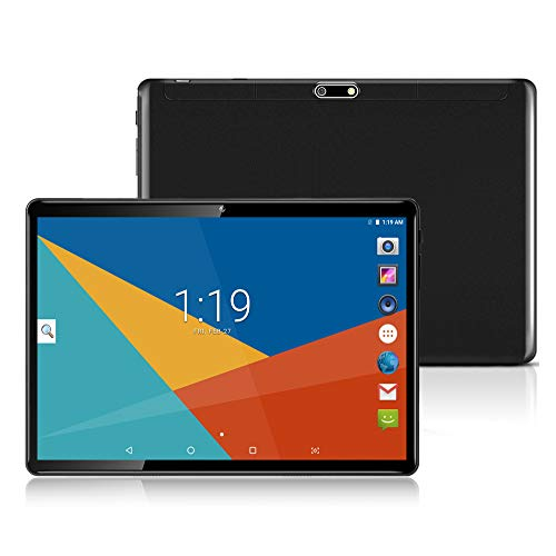 Tablet 10 Zoll, 25,65 cm (10,1) Tablets PC Android 7.0, 3G,HD, WiFi,GPS,GSM,Octa Core,Dual SIM Card, 64GB+4GB,1920X1200 IPS,Schwarz