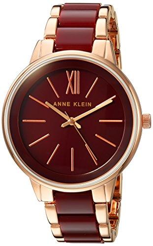 Anne Klein Women's Quartz Metal and Alloy Dress Watch, Color Red (Model: AK/1412BYRG)