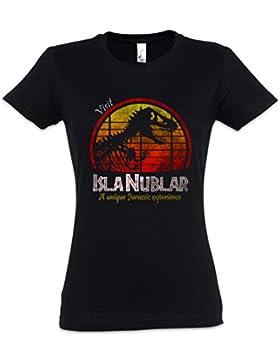 Urban Backwoods Visit Isla Nublar Mujer Girlie Women T-Shirt – Tamaños XS – 2XL