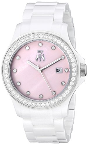 Jivago Women's JV9413 Ceramic Analog Display Quartz White Watch