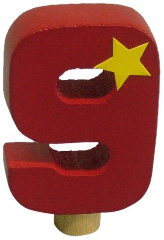 Niermann Standby 9619 - Geburtstag-Happy-Zahl 9, passend für alle Niermann Standby Dekoartikel