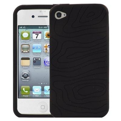 Logotrans Design Series Silikon Schutzhülle für Apple iPhone 4 schwarz Schwarz