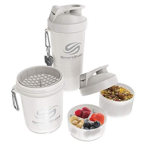 LKOBN Shake Cup Fitness Große Kapazität Sport Im Freien Milchshake Cup Haferflocken Cup Tragbare Wasser Cup Shake Cup Protein Pulver Mischen Cup-4