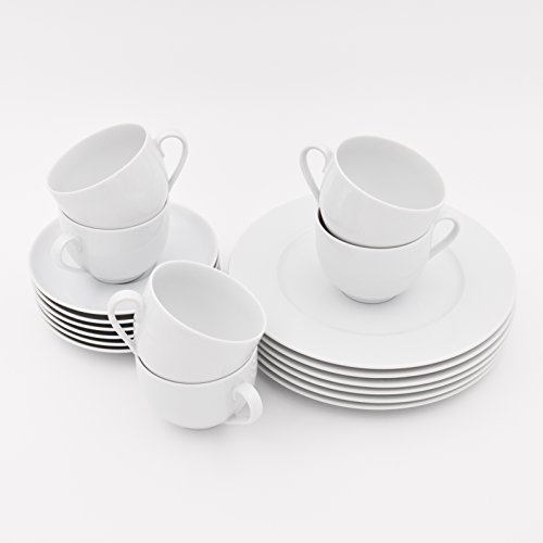 Kahla 050104O90005B Aronda, Porzellan Geschirr-Set 6 Personen, Kaffeeservice Tassen Untertassen...