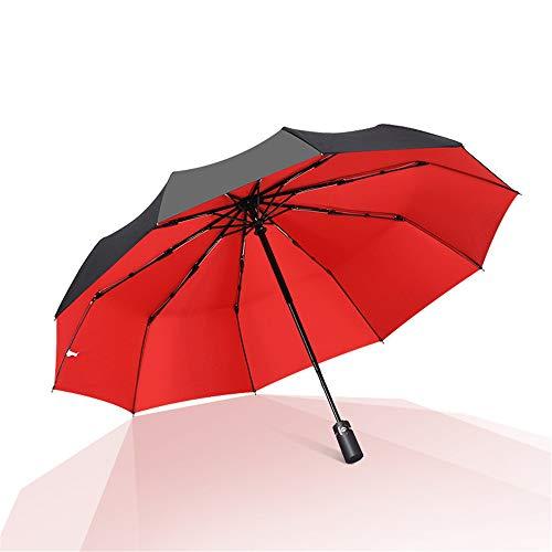 JUNDY Regenschirm Taschenschirm Automatik Reise für Damen und Herren windsicher Wasserdicht Schirm Automatikschirm und Regenschirm mit doppeltem Verwendungszweck colour2 102cm