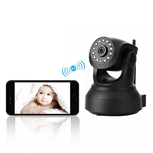 WiFi Security Camera, INKERSCOOP 720p HD WIFI Baby Camera Smart Setup in Minutes, Pet / Baby Camera Monitor Pan/Tilt Night Version & Motion Detection Recording Two-Way Audio Black 41DiDe 2B1wQL