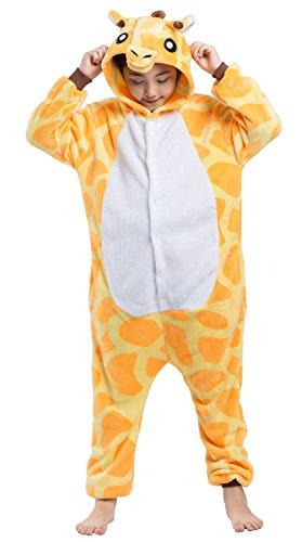 SAMGU Pyjamas Unisex Kinder Giraffe One Piece Onesie Cosplay Tier (Alter Von Mädchen Kostüme Im Halloween 11 Für)