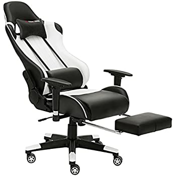 JL Comfurni Gaming Chair Chesterfield Ergonomic Swivel Home Office Nap Chair  Computer Desk Chair PU Leather