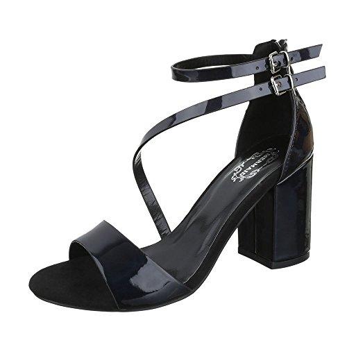 High Heel Sandaletten Damenschuhe Plateau Blockabsatz Moderne Reißverschluss Ital-Design Sandalen / Sandaletten