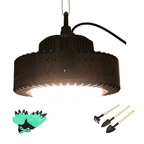 Illumination Lampe Für Pflanzenwachstum 150W Hydroponische Reihe Helle Vollspektrum-LED-Pflanze Wachsen Licht Für Innen (Mit Einem Paar Gärtnerhandschuhen & Gartengeräten) - Base Metall-halogen-lampe