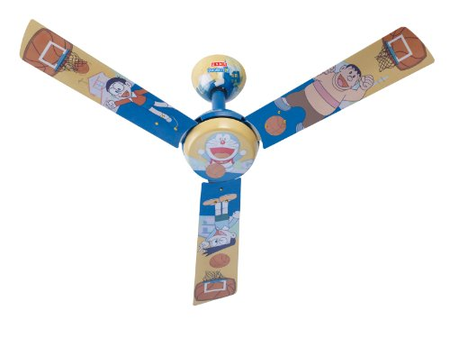 Usha Doraemon Basketball 1200mm Kids Ceiling Fan without Regulator (Multi-color)