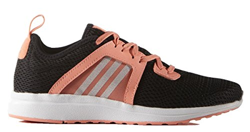 adidas Kids Junior Girls Durama Running Run Lace Up Sports Trainers Shoes Black/SunGlow UK 4 (36.7)