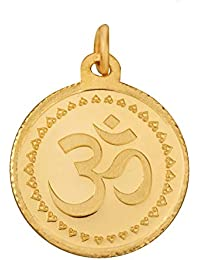 Bangalore Refinery 24k (999) Purity 2.5 Gm Yellow Gold OM Round Pendant