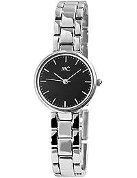 MC Timetrend Germany - Reloj de Pulsera analógico para Mujer, Color Negro y Plateado