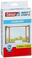 Tesa Insect Stop - Malla mosquitera Standard para ventanas, 1,3 m x 1,5 m, color blanco