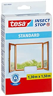 TESA 3937362 Malla mosquitera Standard para ventanas, 1,3 m x 1,5 m, color blanco, (B00569J8BW) | Amazon Products