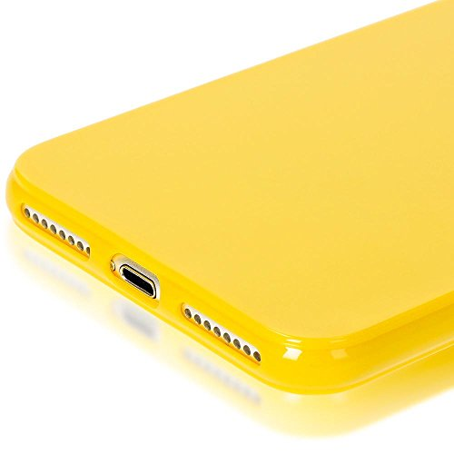 iPhone 8 Plus / 7 Plus Coque Silicone de NICA, Ultra-Fine Housse Protection Cover Slim Premium Etui, Mince Telephone Portable Gel Case Bumper Souple pour Apple iPhone 7 Plus / 8 Plus - Jaune Jaune
