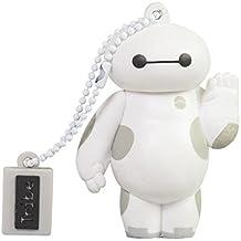 Tribe Disney Big Hero 6 Baymax Chiavetta USB da 16 GB Pendrive Memoria USB Flash Drive 2.0 Memory Stick, Idee Regalo Originali, Figurine 3D, Archiviazione Dati USB Gadget in PVC con Portachiavi - Bianco