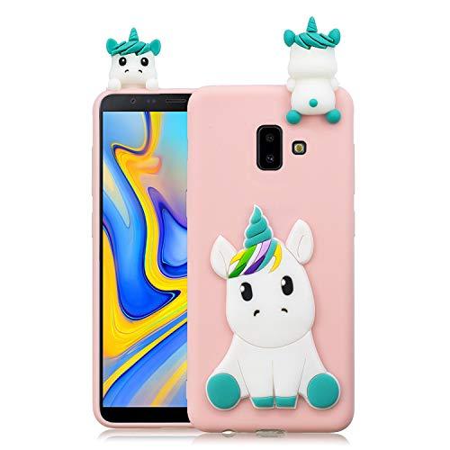 Leton Funda Samsung J6 Plus 2018 Unicornio Rosa Silicona