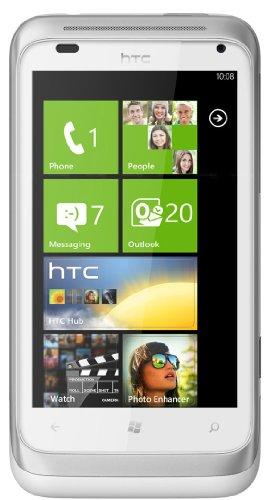 HTC Radar Smartphone (9,6 cm (3,8 Zoll) Touchscreen Display, 5 Megapixel Kamera, GSM, UMTS, HSDPA, WiFi, micro USB 2.0, Windows Phone 7.5) silber/weiß Htc-htc Radar