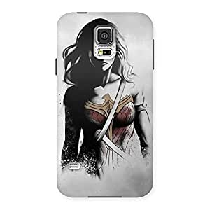 Enticing Wonderful Girl Multicolor Back Case Cover for Samsung Galaxy S5