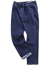 e8ece43f51c9 SFSF Jean Stretch Homme Taille Moyenne Jeans Grande Taille Tout Droit  Ceinture Poche Lavé Sauvage Couleur