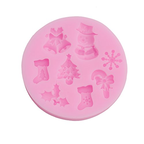LnLyin Schneemann Schneeflocke Krabbenkuchen Silikonform Fondant Silica Cake Mold Kuchen-Modell Baking Mold DIY Candy Cake Mould Tools Weihnachten Deko