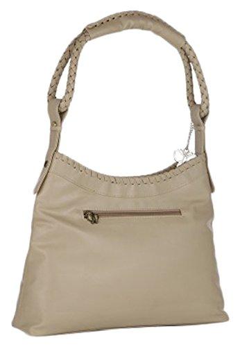 Butterflies sac à bandoulière de jeu des femmes de 2 pcs sac à main beige avec embrayage portefeuille Beige