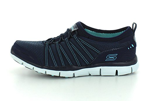 Skechers Gratis shake-it-off, Baskets Basses femme Gris