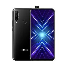 """Honor 9X Smartphone, 4 GB RAM, Memoria 128 GB, Display 6.59"""" Full HD+, Tripla Fotocamera Posteriore 48+8+2 MP, Fotocamera Anteriore 16 Mp a Comparsa Automatica, Nero [Italia]"""