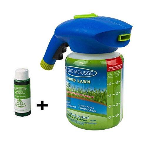 Honsin Rasensprühgerät Seed Líquido Hydro Seeding Sistema Mousse Graspflege  para Casa - 1 Botella 1 Líquido