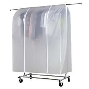 Hlc housse de protection universelle portant v tements penderie table transparente 150x133x55cm - Protection transparente table ...