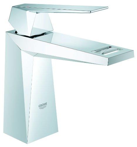 GROHE Allure Brilliant, Badarmatur - Einhand-Waschtischbatterie, GLATTER KÖRPER, ohne Bohrung für Zugstange, 23033000 Kommerzielle Ebene