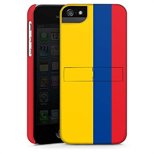 Apple iPhone X Silikon Hülle Case Schutzhülle Kolumbien Flagge Columbia Premium Case StandUp