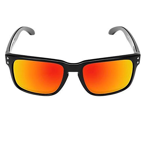 Kiss Sonnenbrille mod. RACING-FLAT-auto-motorrad - GRAND-PRIX-mann-frau, SPORT-unisex - SCHWARZ/rot